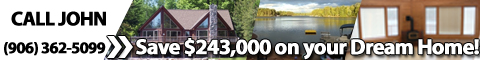 Schedule a tour of this log home on the beaches of Shag Lake in the Upper Peninsula