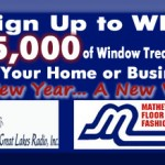 Matthews of Marquette and Great Lakes Radio $5000 Window Treatments Giveaway