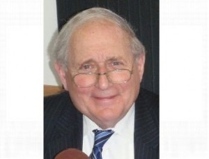 US Senator Carl Levin in the WKQS FM studios in Marquette, MI