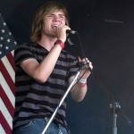 John Rowe singing at WFXD's Texaco Country Showdown July 5th in Marquette's Lower Harbor