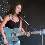Haylie Richer singing at the International Food Festival during WFXD's Texaco Country Showdown