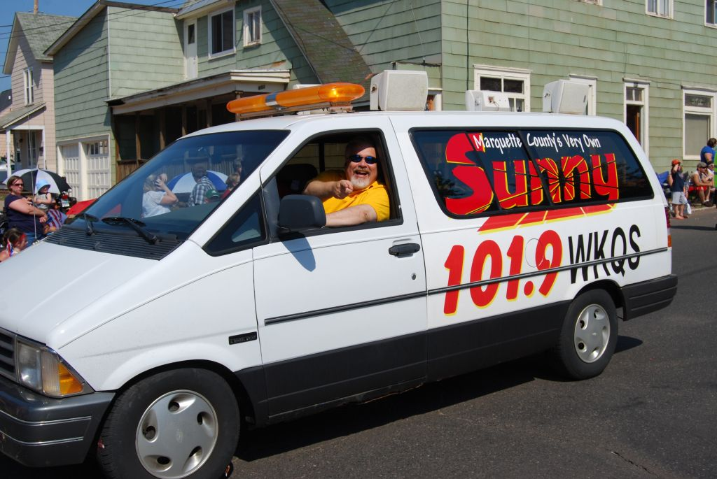 Walt and Mike Celebrate 4th of July in Ishpeming Parade Sunny 101.9