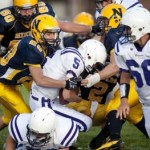 Negaunee Miners football during Football Night in Negaunee