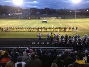 The Negaunee Miners and Iron Mountain Mountaineers on the Field on Friday, October 26th, 2012 - Sunny 101.9 WKQS-FM