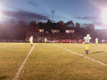 The Negaunee Miners and Marquette Redmen on the Field in Marquette on Friday, October 12, 2012 - Sunny 101.9 WKQS-FM