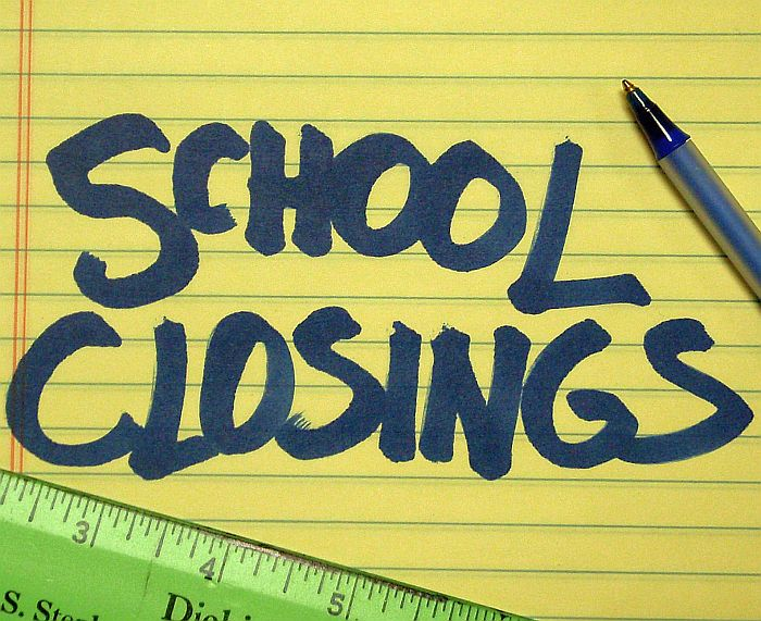 SCHOOL CLOSINGS AND DELAYS FOR TUESDAY, 1/29/13