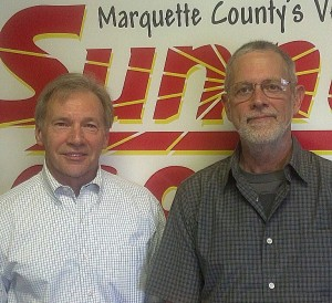 Marquette Township Manager Randy Girard and Planning Commissioner Michael Springer.