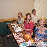 "Heather, Mary and Dee Dee ""wo-manned"" the registration table--over 200 attended!!"