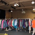 Clothes given away to anyone who needed