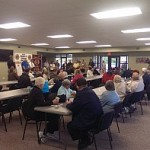 Marquette Township Community Room fills up during the Ribbon Cutting Ceremony at the Marquette Township Hall