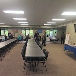 Marquette Township Community Room Empty–just before the festivities begin