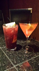 Our drink options included specialty made pink drinks.