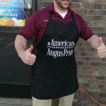 The friendly staff at Tadych's Econo Foods in Marquette are grillin' up Angus Pride Burgers during their 1 Day Meat Sale