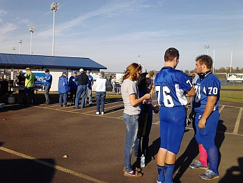 The Ishpeming Hematites were warming up for the big game VS the Negaunee Miners at the Tailgate Party in Ishpeming