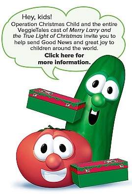 Veggie Tales teams up with Operation Christmas Child