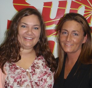 Danielle Wells and Heather Sandstrom with BioLife Plasma Services.