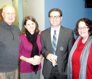 Dan Mazzuchi, Carol Carr, Jeff Nyquist and Stacie Kucera at the SUNNY Studios.