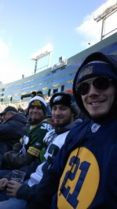 Settling into our seats!  (From Right to left)  Myself, my friend Jake Forchini, and my brother Ray.