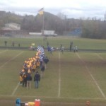 The Negaunee Miners and Inland Lakes Bulldogs on the field in the first round of the MHSAA playoffs on Sunny.FM from Negaunee, Michigan