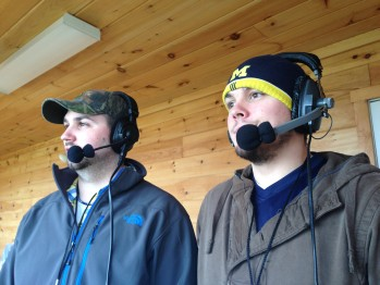 Carl Johnson (right) and Jesse Anderson (left) the voices of the Negaunee Miners on Sunny.FM