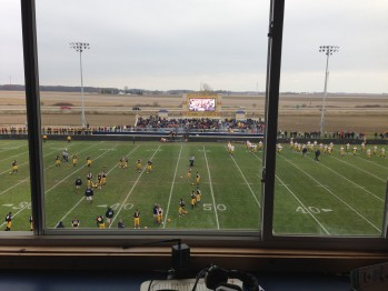 The Negaunee Miners and Ithaca Yellow Jackets on the field from Ithaca, Michigan on Saturday, November 16th, 2013 on Sunny.FM