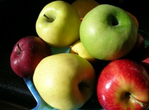 Apples have the least amount of sugar in them which makes them a healthy snack with low sugar peanut butter too