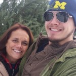 My Mom & I happy after finally picking the tree out.