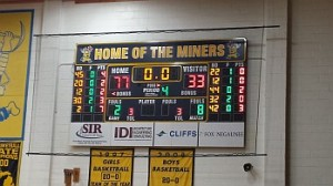 Negaunee Miners Boys vs Manistiquet Emeralds in Negaunee, MI on