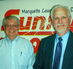 Marquette Mayor Bob Niemi & Police Chief Mike Angeli.
