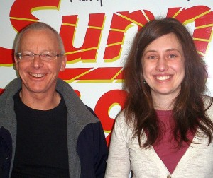 Author and Activist John Stauber and SWUP Exec. Dir. Alexandra Thebert.