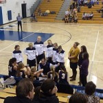 The girls get the strategy placed by head coach Brandon Sager