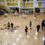 Pre-game warm-ups before the Negaunee-Escanaba girls game on Wednesday, 1/22/14