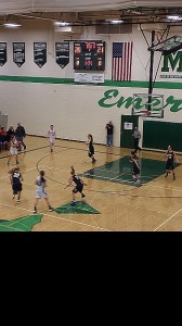 The Negaunee Miners Girls Basketball vs Manistique Emeralds 01/03/14