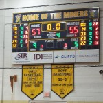 Negaunee Miners Boys defeat the Ishpeming Hematites 57-55
