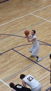 Tyler Jandron shooting a free-throw en route to his season high 28 point performance vs. Gwinn.