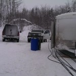 a 7000 pound ATT trailer was tough to get into the UP backwoods