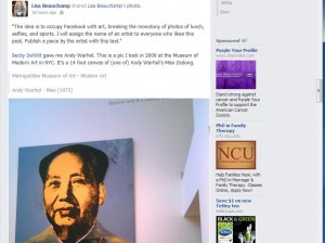 Lisa Beauchamp Occupy Facebook with Art screenshot
