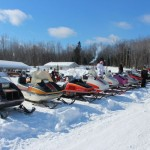 Antique and Vintage Snowmobile Show Big Bay Michigan-003