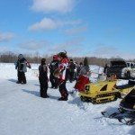 Antique and Vintage Snowmobile Show Big Bay Michigan-009