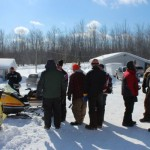Antique and Vintage Snowmobile Show Big Bay Michigan-016