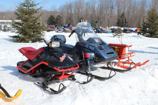 Antique And Vintage Snowmobile Show Big Bay Michigan 001