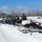 Antique and Vintage Snowmobile Show Big Bay Michigan-018