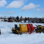 Antique and Vintage Snowmobile Show Big Bay Michigan-023