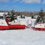 Antique and Vintage Snowmobile Show Big Bay Michigan-032