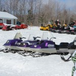 Antique and Vintage Snowmobile Show Big Bay Michigan-035