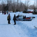 Antique and Vintage Snowmobile Show Big Bay Michigan-036