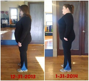 Nancy One Month synergy fitness marquette michigan before after picture