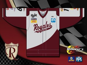 Marquette Royales Michigan NASCAR jerseys Hockey fundraiser