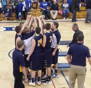 Negaunee Miners Boys Basketball vs Ishpeming Hematites on Sunny.FM. 02/07/14