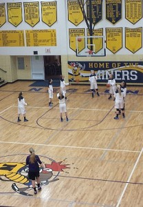 Negaunee Miners Girls Basketball vs Gladstone Braves on Sunny.FM. 02/12/14